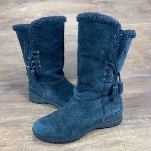 Ralph Lauren Tadina Dyed Shearling Boots Womans 9